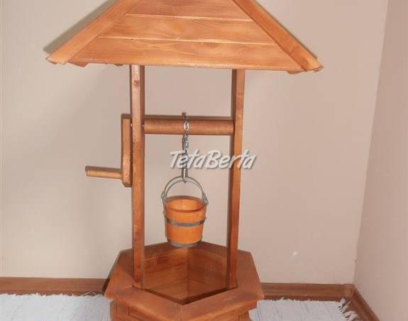 Drevená dekoratívná studňa do záhrady, foto 1 Dom a záhrada, Záhradný nábytok, dekorácie | Tetaberta.sk - bazár, inzercia zadarmo