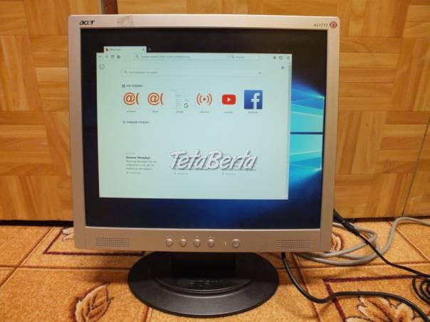 Predám monitor Acer AL1715 prerobeny na molex napájanie z PC. Predáva sa len monitor bez káblov., foto 1 Elektro, Tlačiarne, skenery, monitory | Tetaberta.sk - bazár, inzercia zadarmo