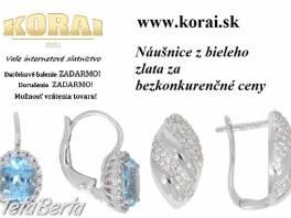 Náušnice z bieleho zlata KORAI , Móda, krása a zdravie, Hodinky a šperky  | Tetaberta.sk - bazár, inzercia zadarmo