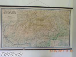 Nástenná Mapa Slovenska r.1949 , Hobby, voľný čas, Umenie a zbierky  | Tetaberta.sk - bazár, inzercia zadarmo