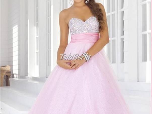 Nádherné ružové spoločenské šaty 3bdb296b91c