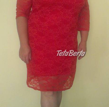 98482796ab78 Krajkové červene šaty - Moletka