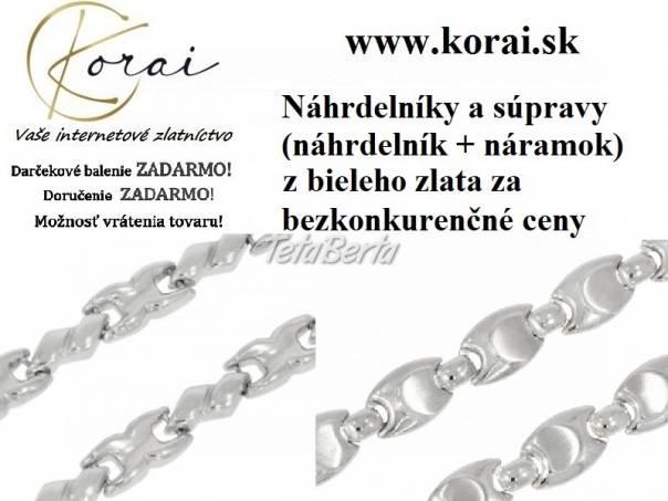 Náhrdelníky a súpravy z bieleho zlata KORAI, foto 1 Móda, krása a zdravie, Hodinky a šperky   Tetaberta.sk - bazár, inzercia zadarmo
