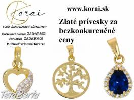 Zlaté prívesky KORAI , Móda, krása a zdravie, Hodinky a šperky  | Tetaberta.sk - bazár, inzercia zadarmo