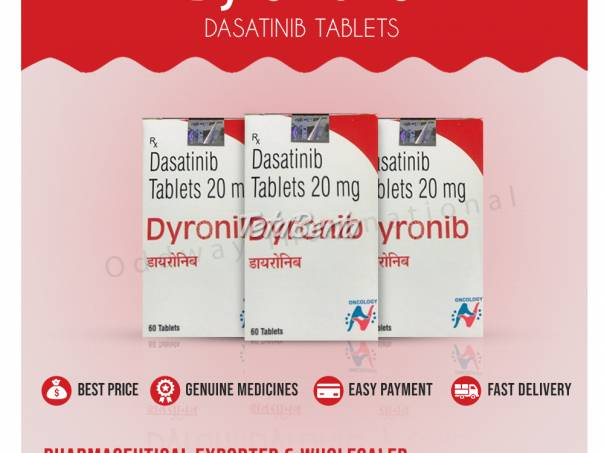Dyronib 20mg (dasatinib 20mg) tablety vývozca a veľkoobchod v Indii, foto 1 Móda, krása a zdravie, Starostlivosť o zdravie | Tetaberta.sk - bazár, inzercia zadarmo
