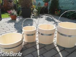 Drevené vedro , Dom a záhrada, Záhradný nábytok, dekorácie  | Tetaberta.sk - bazár, inzercia zadarmo