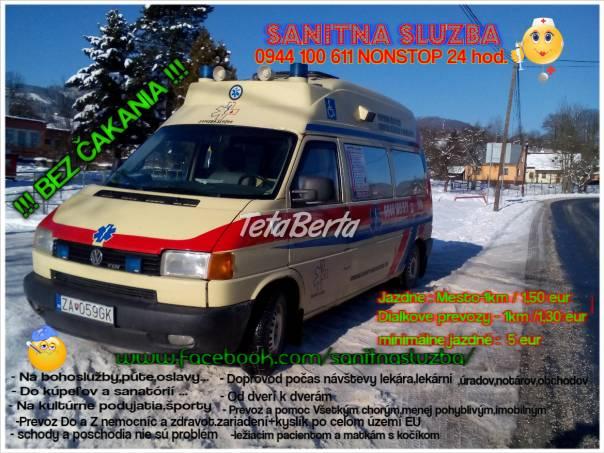 Sanitná Služba  24hod., foto 1 Móda, krása a zdravie, Starostlivosť o zdravie | Tetaberta.sk - bazár, inzercia zadarmo