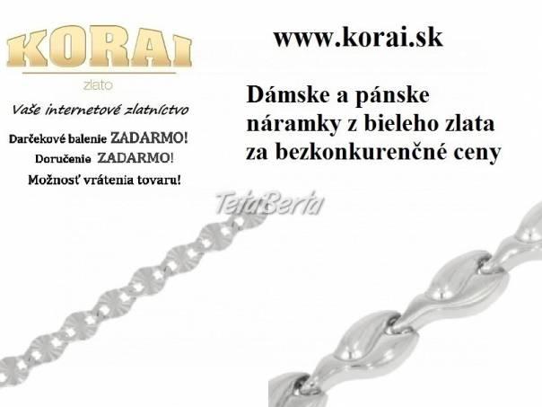 Náramky z bieleho zlata od KORAI, foto 1 Móda, krása a zdravie, Hodinky a šperky | Tetaberta.sk - bazár, inzercia zadarmo