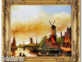 VĚTRNÉ MLÝNY - olejomalba na plátně , Hobby, voľný čas, Umenie a zbierky  | Tetaberta.sk - bazár, inzercia zadarmo