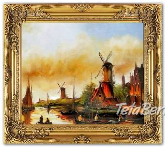 VĚTRNÉ MLÝNY - olejomalba na plátně, foto 1 Hobby, voľný čas, Umenie a zbierky | Tetaberta.sk - bazár, inzercia zadarmo