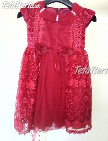 6f28dd4b0a4c Predám červené krajkové šaty príležitostné