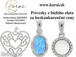 Prívesky z bieleho zlata KORAI , Móda, krása a zdravie, Hodinky a šperky  | Tetaberta.sk - bazár, inzercia zadarmo