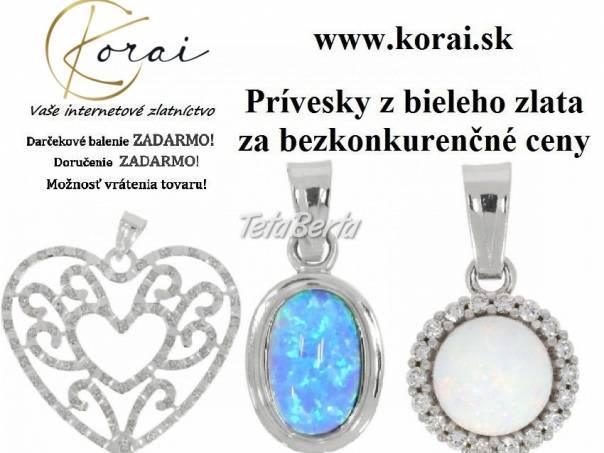 Prívesky z bieleho zlata KORAI, foto 1 Móda, krása a zdravie, Hodinky a šperky | Tetaberta.sk - bazár, inzercia zadarmo