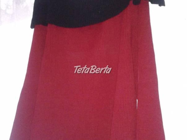 červený svetrík s veľkým čiernym golierom, foto 1 Móda, krása a zdravie, Oblečenie | Tetaberta.sk - bazár, inzercia zadarmo