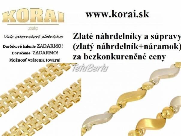 Zlaté náhrdelníky a súpravy KORAI, foto 1 Móda, krása a zdravie, Hodinky a šperky | Tetaberta.sk - bazár, inzercia zadarmo