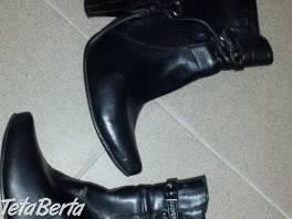 Kotníkové čierne v.38 sú asi 5x obuté, zvnútra teplá látka,  , Móda, krása a zdravie, Obuv  | Tetaberta.sk - bazár, inzercia zadarmo