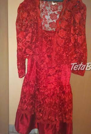 acb4b90643f0 Predám čipkované červené šaty