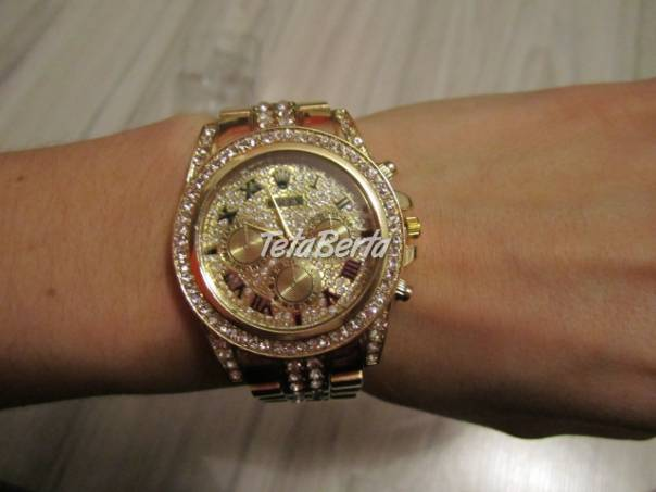 Rolex hodinky - zlaté prev. s kamienkami dd9d7a12bfc
