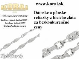 Retiazky z bieleho zlata KORAI , Móda, krása a zdravie, Hodinky a šperky  | Tetaberta.sk - bazár, inzercia zadarmo