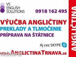 Lektorka angličtiny Trnava, aj brigádne