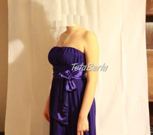 e99eeb771cad Predám krásne dlhé modré spoločenské šaty