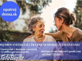 Opatrovateľská služba pre seniorov, dôchodcov a ŤZP , Obchod a služby, Ostatné    Tetaberta.sk - bazár, inzercia zadarmo