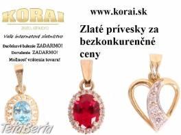 Prívesky zo žltého zlata KORAI , Móda, krása a zdravie, Hodinky a šperky  | Tetaberta.sk - bazár, inzercia zadarmo