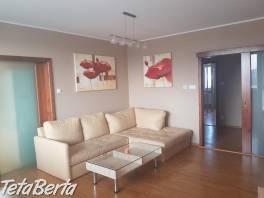 V PONUKE IBA U Na prenájom priestranný 3i moderne zariadený a kompletne zrekonštruovaný byt na Trnavskej ceste v Ružinove
