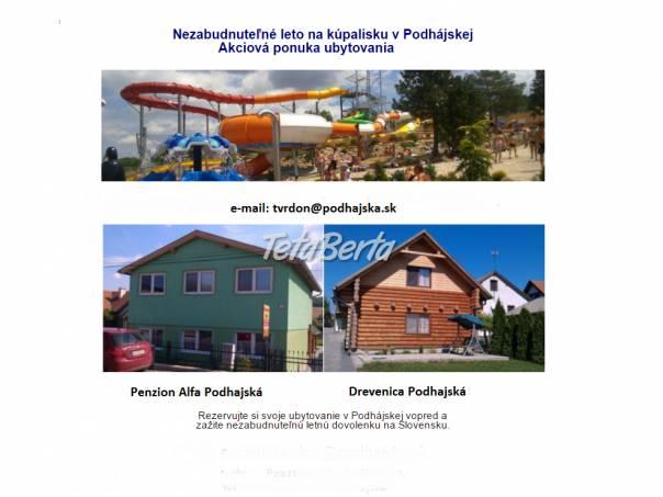 TERMALNE KÚPALISKO - PODHAJSKA UBYTOVANIE, foto 1 Hobby, voľný čas, Šport a cestovanie | Tetaberta.sk - bazár, inzercia zadarmo