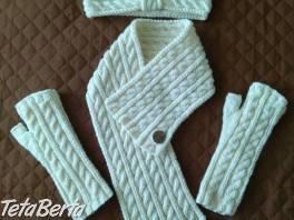 Ručne pletený šál, rukavice, čelenka , Móda, krása a zdravie, Doplnky a príslušenstvo  | Tetaberta.sk - bazár, inzercia zadarmo