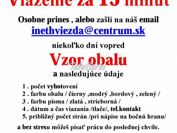 Diplomovky Prešov- Viazanie diplomových prác Prešov, foto 1 Obchod a služby, Ostatné   Tetaberta.sk - bazár, inzercia zadarmo