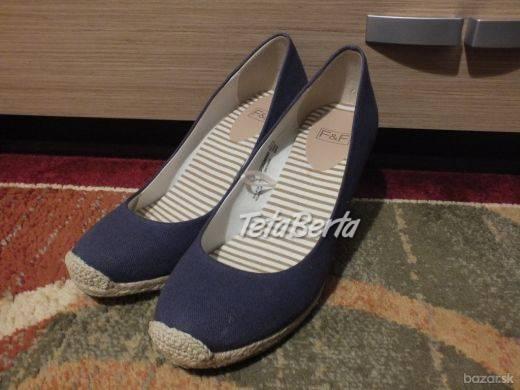 Predáme dámske topánky od F&F,tmavomodré., foto 1 Móda, krása a zdravie, Obuv | Tetaberta.sk - bazár, inzercia zadarmo