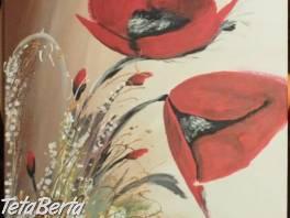 Predám obraz ručne maľovaný - maky, na plátne. -  , Hobby, voľný čas, Umenie a zbierky  | Tetaberta.sk - bazár, inzercia zadarmo