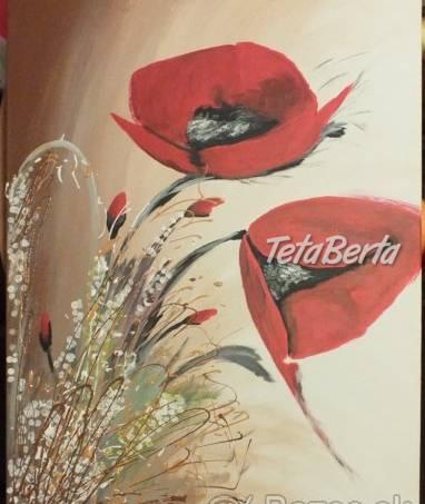 Predám obraz ručne maľovaný - maky, na plátne. - , foto 1 Hobby, voľný čas, Umenie a zbierky | Tetaberta.sk - bazár, inzercia zadarmo