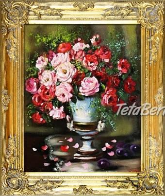 KYTICE - 1 - olejomalba na plátně - bohatě zdobený rám 630x530mm , foto 1 Hobby, voľný čas, Umenie a zbierky | Tetaberta.sk - bazár, inzercia zadarmo