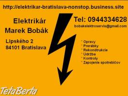 Elektrikár Bratislava a okolie-NONSTOP , Elektro, Sporáky, rúry na pečenie a mikrovlnky  | Tetaberta.sk - bazár, inzercia zadarmo