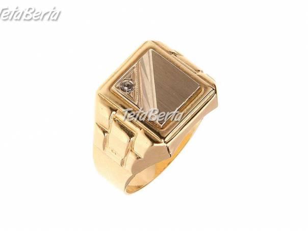 3bbd862a2 Pánsky zlatý pečatný prsteň , foto 1 Móda, krása a zdravie, Hodinky a šperky