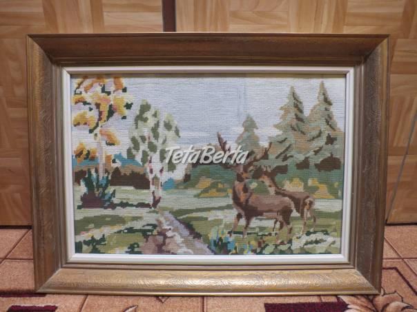 Predám vyšívaný obraz v drevenom ráme. , foto 1 Obchod a služby, Ostatné   Tetaberta.sk - bazár, inzercia zadarmo