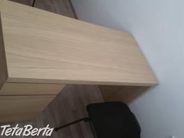 Písací stolík MALM, Ikea, 1-mes. používaný , Dom a záhrada, Nábytok, police, skrine  | Tetaberta.sk - bazár, inzercia zadarmo