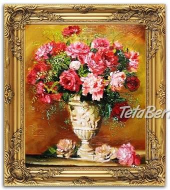 KYTICE - 2 - olejomalba na plátně - bohatě zdobený rám 630x530mm , foto 1 Hobby, voľný čas, Umenie a zbierky | Tetaberta.sk - bazár, inzercia zadarmo