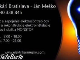 Elektrikár Bratislava + okolie , Elektro, Chladničky, umývačky a práčky    Tetaberta.sk - bazár, inzercia zadarmo