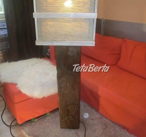 Drevena stojaca lampa, foto 1 Dom a záhrada, Svietidlá, koberce a hodiny | Tetaberta.sk - bazár, inzercia zadarmo