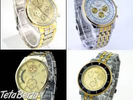 Pánske hodinky strieborno-zlaté   , Móda, krása a zdravie, Hodinky a šperky  | Tetaberta.sk - bazár, inzercia zadarmo