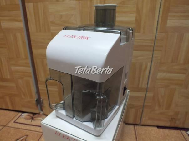 Predám odšťavovač Elektrik., foto 1 Elektro, Drobná domáca elektronika | Tetaberta.sk - bazár, inzercia zadarmo