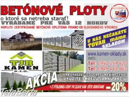 BETÓNOVÉ PLOTY-Skladom  k odberu. , Dom a záhrada, Stavba a rekonštrukcia domu  | Tetaberta.sk - bazár, inzercia zadarmo