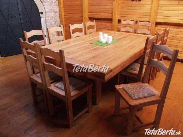 dc256580ea9e Predám stôl z masívu pre 12 ľudí+12stol