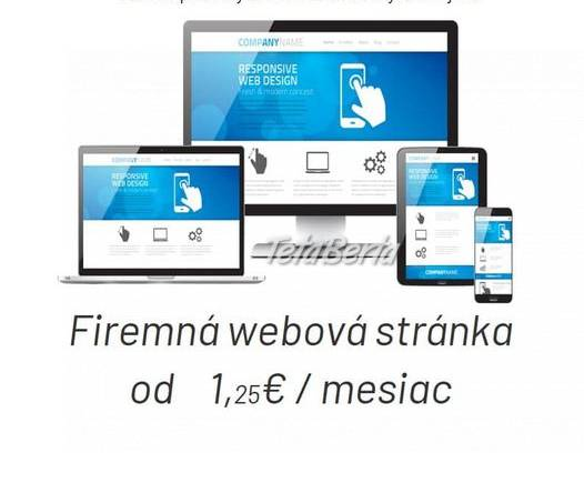 Web stránky-najlacnejšie, foto 1 Obchod a služby, Ostatné | Tetaberta.sk - bazár, inzercia zadarmo