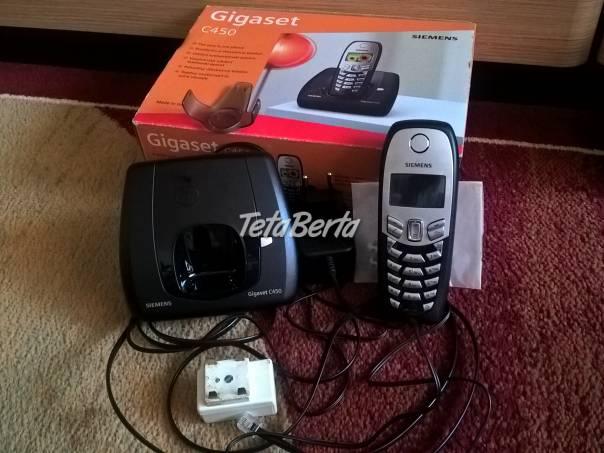 Predám Gigaset C450. Domáci bezdrôtový telefón na pevnú linku. Funkčný až na batérie, tie sú už mizerné. Lepšie napovedia fotky., foto 1 Elektro, Pevné linky a faxy | Tetaberta.sk - bazár, inzercia zadarmo