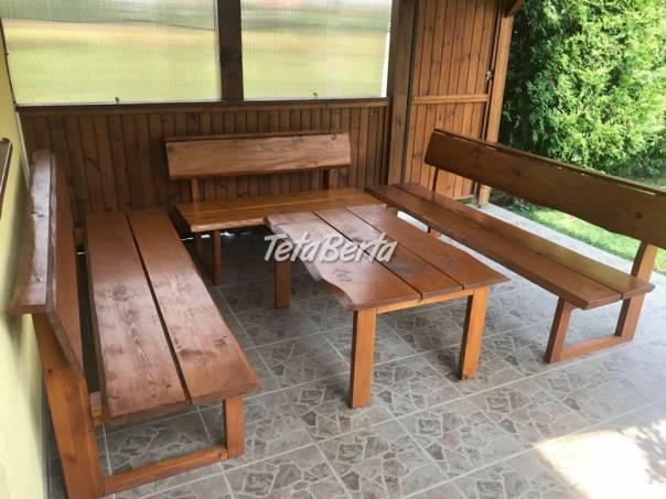 Drevený záhradný nábytok, foto 1 Dom a záhrada, Záhradný nábytok, dekorácie   Tetaberta.sk - bazár, inzercia zadarmo