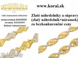 Zlaté náhrdelníky a súpravy od KORAI , Móda, krása a zdravie, Hodinky a šperky  | Tetaberta.sk - bazár, inzercia zadarmo